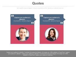 Two Individual Quotes For Business Analysis Powerpoint Slides
