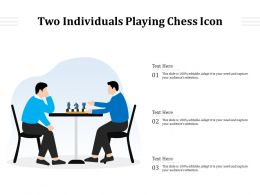 Two Individuals Playing Chess Icon