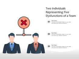 Two Individuals Representing Five Dysfunctions Of A Team