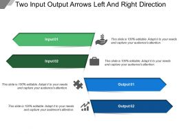Two Input Output Arrows Left And Right Direction