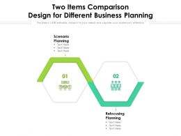 Two Items Comparison Design For Different Business Planning