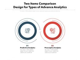 Two Items Comparison Design For Types Of Advance Analytics