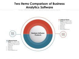 Two Items Comparison Of Business Analytics Software