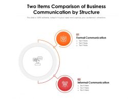 Two Items Comparison Of Business Communication By Structure