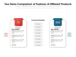 Two Items Comparison Of Features Of Different Products