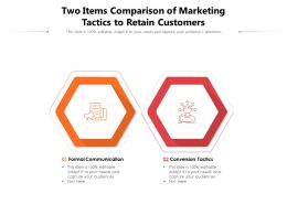 Two Items Comparison Of Marketing Tactics To Retain Customers