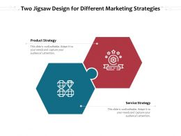 Two Jigsaw Design For Different Marketing Strategies