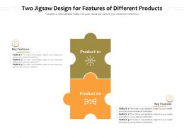 Two Jigsaw Design For Features Of Different Products