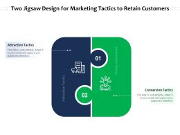 Two Jigsaw Design For Marketing Tactics To Retain Customers