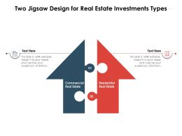 Two Jigsaw Design For Real Estate Investments Types