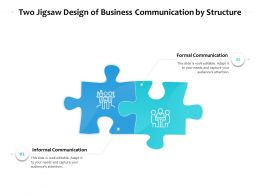 Two Jigsaw Design Of Business Communication By Structure