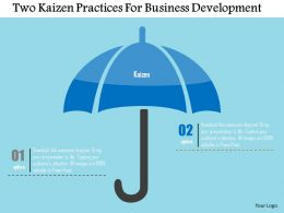 Two Kaizen Practices For Business Development Flat Powerpoint Design