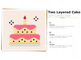 Two Layered Cake With Candle Icon