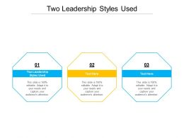 Two Leadership Styles Used Ppt Powerpoint Slides Graphics Tutorials Cpb