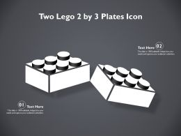 Two Lego 2 By 3 Plates Icon