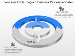 Two Level Circle Diagram Business Process Indication Powerpoint Template Slide