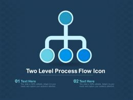 Two Level Process Flow Icon