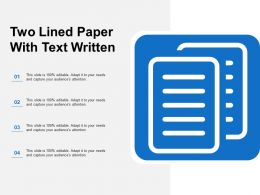 Two Lined Paper With Text Written