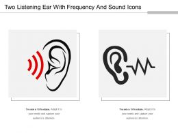Two Listening Ear With Frequency And Sound Icons