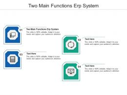 Two Main Functions ERP System Ppt Powerpoint Presentation Styles Elements Cpb