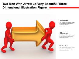 Two Man With Arrow 3d Very Beautiful Three Dimensional Illustration Figure