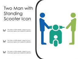 Two Man With Standing Scooter Icon