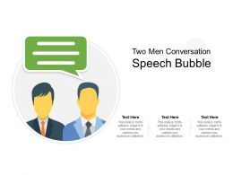 Two Men Conversation Speech Bubble