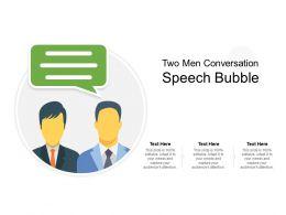 Two Men Conversation Speech Bubble