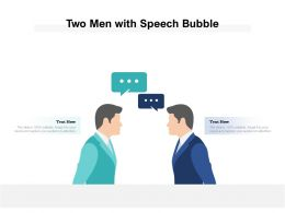 Two Men Image With Speech Bubble