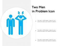 Two Men In Problem Icon