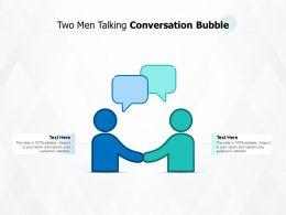 Two Men Talking Conversation Bubble