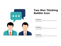 Two Men Thinking Bubble Icon