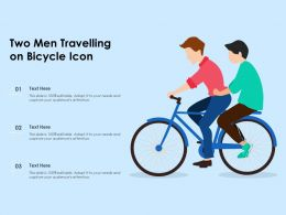 Two Men Travelling On Bicycle Icon