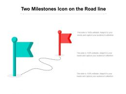 Two Milestones Icon On The Road Line