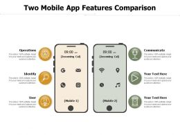 Two Mobile App Features Comparison