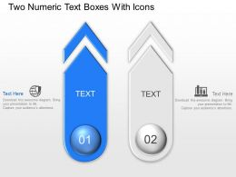 Two Numeric Text Boxes With Icons Powerpoint Template Slide