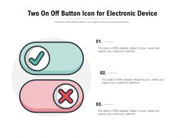 Two On Off Button Icon For Electronic Device