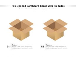 Two Opened Cardboard Boxes With Six Sides