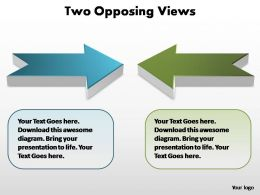 two opposing views editable powerpoint templates