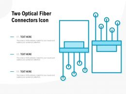 Two Optical Fiber Connectors Icon