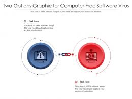 Two Options Graphic For Computer Free Software Virus Infographic Template