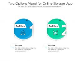 Two Options Visual For Online Storage App Infographic Template