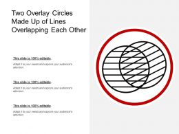 Two Overlay Circles Made Up Of Lines Overlapping Each Other