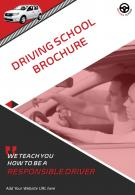 Two Page Automotive And Transportation Driving School Brochure Template