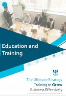 Two Page Education And Training Brochure Template