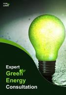 Two Page Green Energy Consultant Brochure
