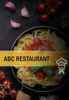 Two Page Menu Brochure Template