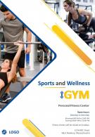 Two Page Sports And Wellness Gym Brochure Template