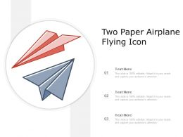 Two Paper Airplane Flying Icon