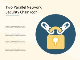 Two Parallel Network Security Chain Icon